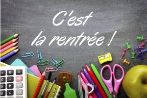 – INFORMATIONS RENTRÉE SCOLAIRE 2020-2021 –